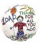 #1 Dad balloon