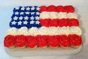 Flag Cupcake Cake