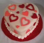 Heart Fondant Cake
