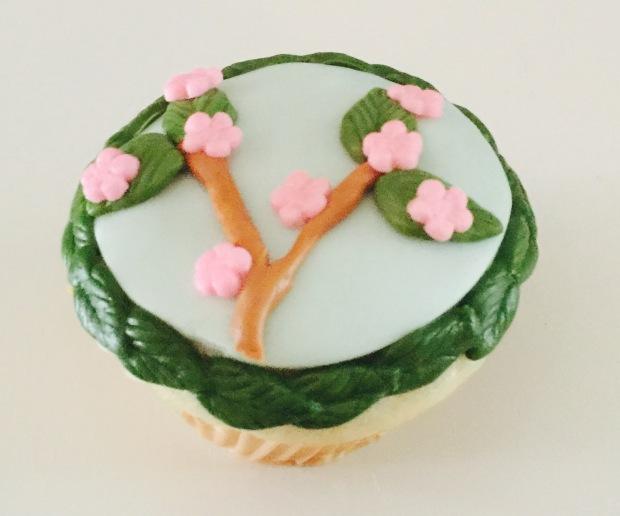 Japanese Cherry Blossom Cupcake