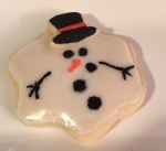 Melted Snowman Cut-out Cookie