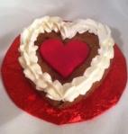 Mini Cookie Heart Cake