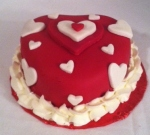 Mini Heart Fondant Cake