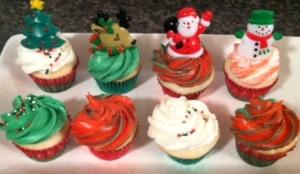Mini Xmas cupcakes