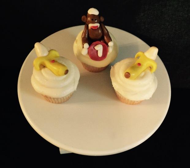 Monkey & Banana cupcakes