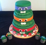Ninja Turtle Pizza Cake