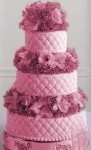 pink Silver quilted cake