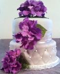 Silver Wedding Shower Cake