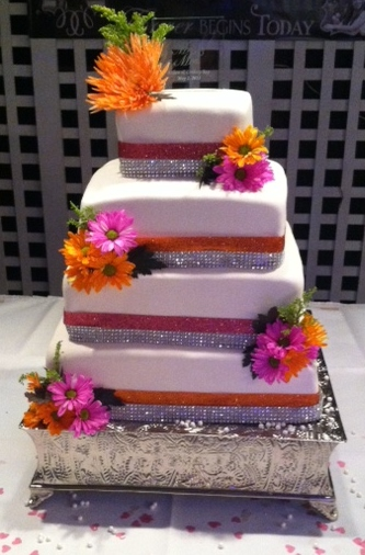 Wedding Cake Pink & Orange