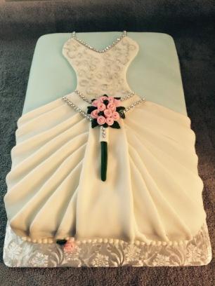 Wedding Dress Double layer Sheet Cake 1