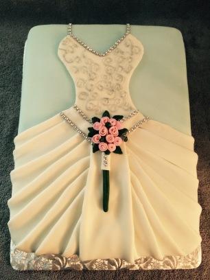 Wedding Dress Double layer Sheet Cake 2
