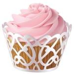 White cupcake wraps