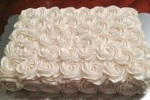 White Rosette Sheet Cke